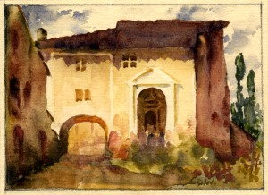 R. Douglas Wells: Untitled (English Manor house), 1920