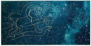 "Leo Katz: ""Gemini - Cancer - Leo"" 1950; surface-printed inaglio. $1,500"