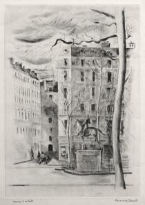 "Hermine David: ""Le Sculpture"", circa 1929; drypoint. $500"