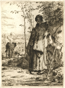 "Jean Francois Millet: ""La Grande Bergere (The Large Shepherdess)"", 1862; etching. $3,500"
