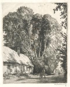 """Auguste Louis Lepere: """"Le Bout Genet, Crevecoeur-le-Grand"""", 1913; etching. $900"""