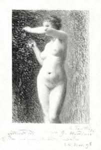 """Henri Fantin-Latour: """"Etude pour Eve"""", 1898; lithograph. $2,000"""