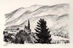 "Albert Marquet: ""Pons (Charente)"", 1947; lithograph. $850"