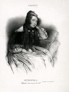 "Alphonse Leon Noel: ""Mme. Dorval"", circa 1850; lithograph. $375"