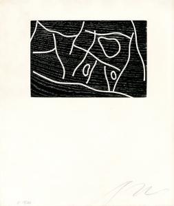 "Hans (Jean) Arp: ""Signes"", 1949; woodcut. $2,800"