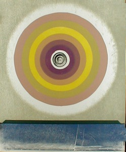 "Michael Rothenstein: ""Circle - Violet and Yellow"", 1968; color linocut, woodcut, and half-tone plate. $950"