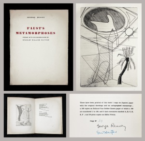 "Stanley William Hayter: ""Faust's Metamorphosis - Poems by George Reavy"", 1931-'32; book of engravings with mezzotint. $2,000"