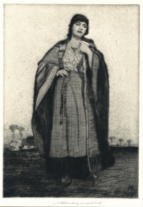 "William Lee-Hankey: ""La Fille du Ferme"", 1917; drypoint. $600"