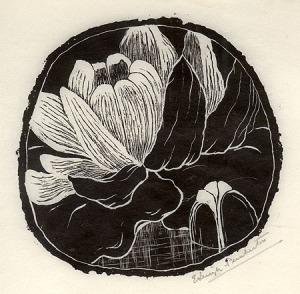 "E. Leigh-Pemberton: ""Magnolia Bud"", circa 1920; woodengraving. $275"