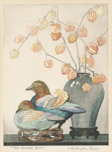 "Arthur Rigden Read: ""The Chinese Ducks"", circa 1920; color woodcut. $475"