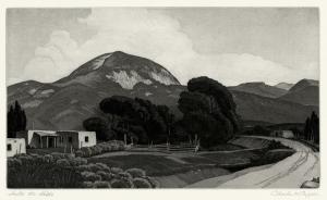 Charles Merrick Capps: Into the Hills; 1947; etching aquatint; $3,500