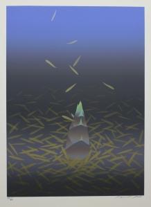 Shigeyuki Ohashi: Untitled; 1987; color screenprint; $400.