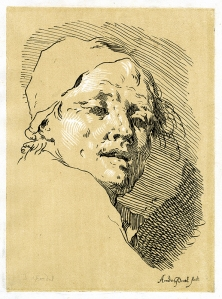 Johann Gottlieb Amadeus Prestel: circa 1775; etching and woodcut; $750.