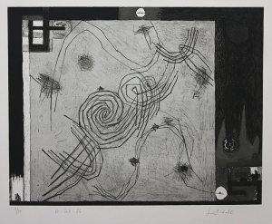 Frank Lobdell: 10.23.86; 1986; etching, aquatint and soft ground; $1,700.