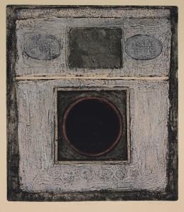 George Miyasaki: Presentation #2; 1964; mixed technique color collograph; $750.
