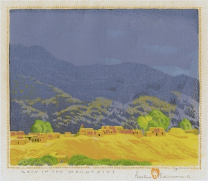 Gustave Baumann: Rain in the Mountain; 1925/1956; color woodcut; $20,000.