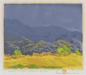 Gustave Baumann: Rain in the Mountain; 1925/1956; color woodcut; $20,000.