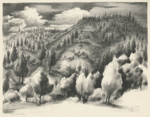 Theodore Polos: The Sierras; 1938; lithograph; $300.