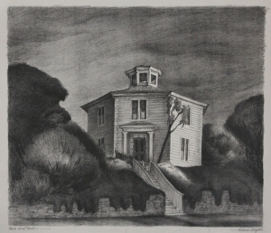 Marguerite Redman Dorgeloh: House and Garden; 1939; lithograph; $400.