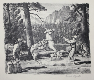 Howard E. Smith: (Loading the White Mule); about 1945; lithograph; $300.
