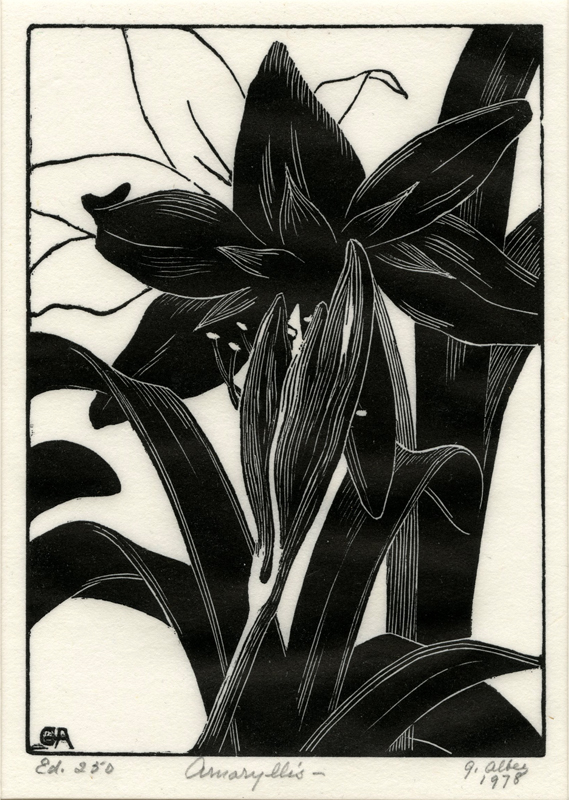 1.  Grace Albee  (American 1890-1985)  Amaryllis