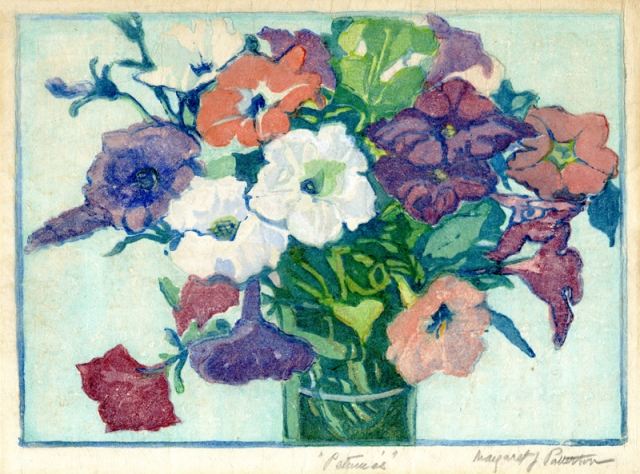 15.  Margaret Jordon Patterson  (American 1867-1950)  Petunias