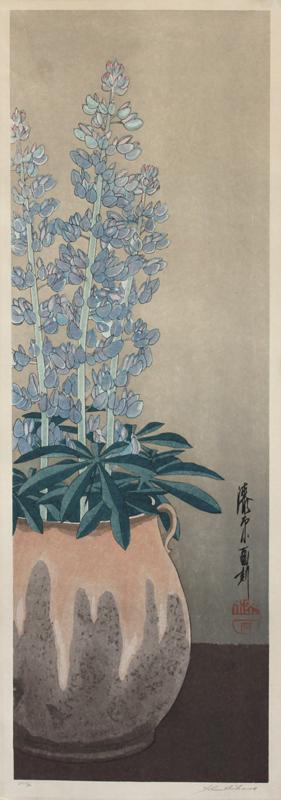 25. Yoshijiro Urushibara  (Japanese 1888-1953)  Lupine