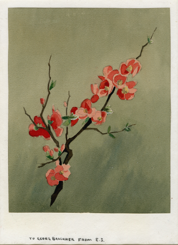 22. Eric Slater  (British 1896-1963)  (Flowering Quince)