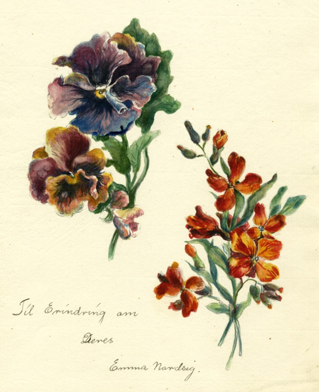 14.  Emma Nardsig  (information unknown)  Pansies and orange flowers