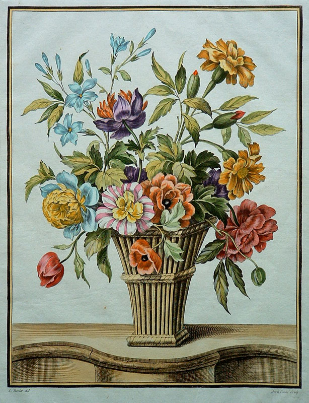 22. Louis Tessier (French 1719-1781)  (Floral Bouquet)