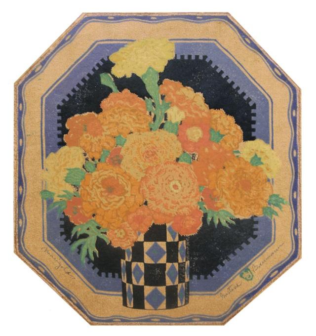 3.  Gustave Baumann  (American 1881-1971)  Marigolds (a.k.a. Sunny Messengers)