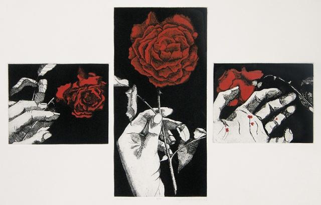 16.  Elizabeth Quandt  (American born England 1922-1994)   Red Rose